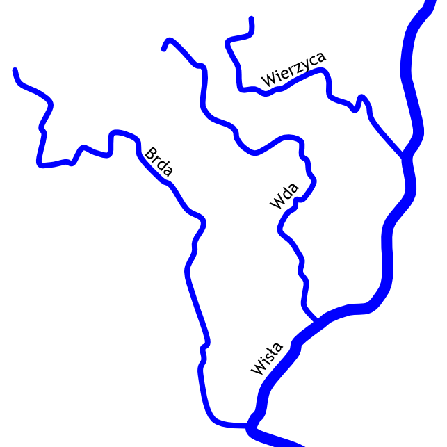 Brda, Wda, Wierzyca - spływy kajakowe